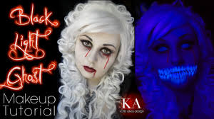 black light ghost halloween makeup tutorial youtube