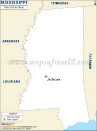 State Of Tennessee Map by Blank Map Of Mississippi Mississippi Outline Map