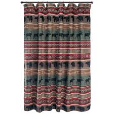 rustic shower curtains moose bear pinecone designs