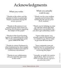 PHD Comics  Acknowledgments
