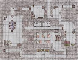 1st floor ground floor of a d u0026d dungeon i drew and the forest