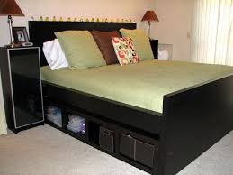 Make A Platform Bed With Storage by Diy King Bed Frame With Storage Underneath Diy King Bed Frame