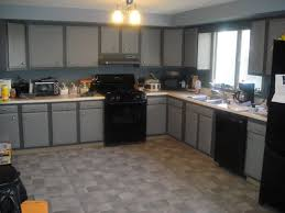 wonderful black kitchen design with stove rice cooker and ceramic