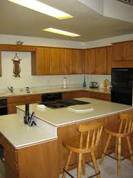 Kitchen Cabinet Overlay Fascinating Oak Kitchen Island With Seating Also Flat Panel Oak