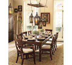 dining room antique bevolo lighting with rustic dining table for