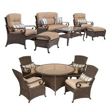Patio Furniture Set Lake Como Combo 6 Piece Patio Furniture Set And 5 Piece Patio
