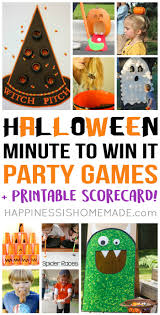 halloween minute to win it party games halloween parties party