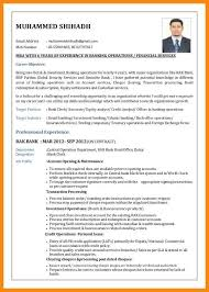 Career Objective For Bank 10 Resume Format For Bank Job Manager Resume