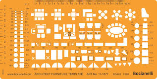Architecture Symbols Floor Plan 1 200 Scale Architectural Drawing Template Stencil Architect