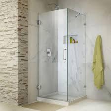 dreamline unidoor lux 30 in x 72 in frameless corner hinged