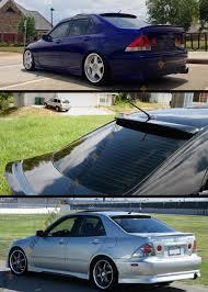 lexus is300 nz vip glossy blk jdm rear roof window sport spoiler wing for 2001