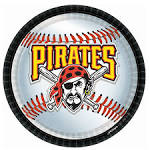 Pittsburgh Pirates Baseball Round Dinner Plates, 76219
