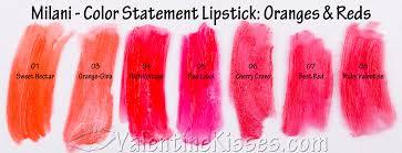valentine kisses milani color statement lipstick all 30 shades