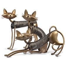 best and cheap golden tooarts metal sculpture iron art cat spring