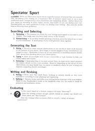 10th grade cyber english ii spectator sport worksheets
