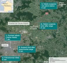 Charles De Gaulle Airport Map Charlie Hebdo Attack Three Days Of Terror Bbc News