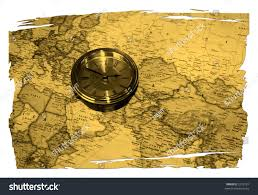 World Time Zones Map by Antique Clock On Torn Map Piece Stock Photo 2275187 Shutterstock