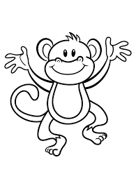 cartoon monkey coloring pages olegandreev me