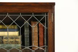 antique oak bookcase with glass doors sold oak quarter sawn 1900 antique library bookcase leaded