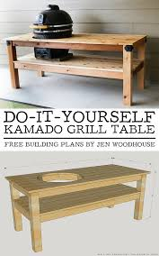 Free Woodworking Plans Round Coffee Table by Diy Kamado Grill Table