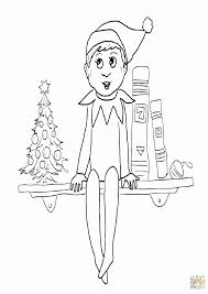 free printable elf on the shelf coloring pages kids coloring