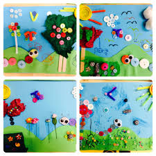 spring summer button and beads kids art and craft recycled