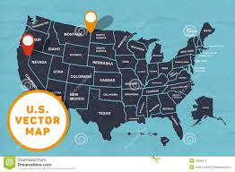 United States Map Delaware by Hand Made Map Of America Stock Vector Image 52656912