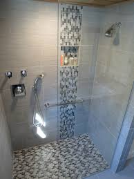 Tile Design For Bathroom Modern Waterfall Shower With Grey Wall Tile And Mosaic Grey Shower