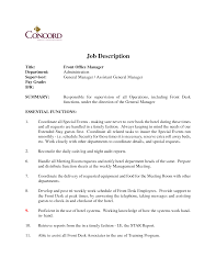 Sample Resume Of Office Administrator by Office Duties Resume Description Resume Resume Exampl Sample Job