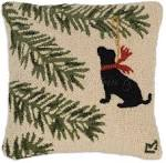 Christmas Tree Ornament Holiday Pillow | Hooked Throw Pillows