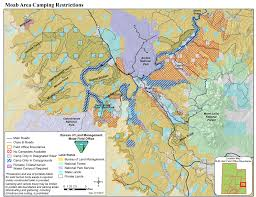 Map Of Utah And Colorado by Blm Campgrounds Surrounding Moab Utah