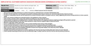 Aws Certified Solutions Architect Associate Resumes Career Cover Letter Retail Customer Service Associate Resume