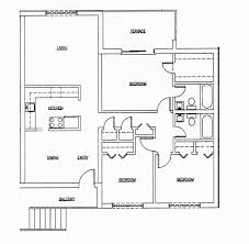 Split Level Ranch Floor Plans by 2 Bedroom 2 Bathroom House Plans 17 Home Decoration