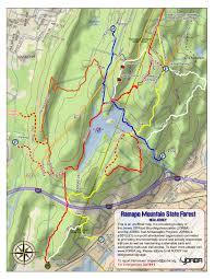 Map Nj Ramapo Mt Nj Trail Review Video Trail Reviews Com
