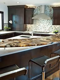 Blue Backsplash Kitchen Countertops Onyx Kitchen Countertop Blue Mosaic Backsplash