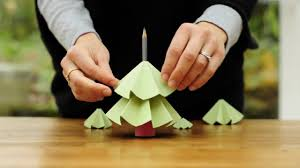 christmas decorations to make at home how to make a christmas tree from paper youtube