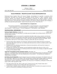 Resume Examples  Objective for Resume in Sales  resume objective         Resume Examples  Major Account Sales Representative Resume Template With Core Competencies In Account Acquisition And