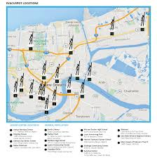 New Orleans Downtown Map by Evacuspots And City Assisted Evacuation U2014 Evacuteer