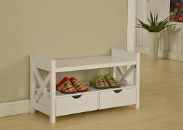 White Entryway Table by Amazon Com King U0027s Brand White Finish Wood Shoe Storage Bench With