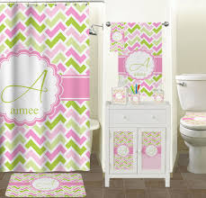 pink u0026 green geometric shower curtain personalized potty