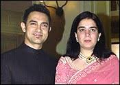 Reena Dutta and Aamir Khan