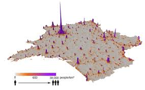 Population Density Map United States by Use Cellphone Data To Construct Population Density Maps