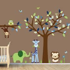 kids room decor wallpaper for kid nursery removable gallery wallpaper for kid room nursery removable owls birds monkey zebra deer turtle tree wall stickers decal home art colorful animals themed