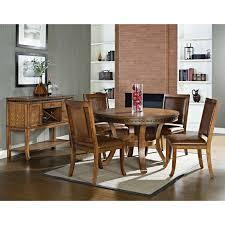 steve silver ashbrook round dining table oak walmart com