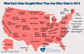 Google Maps Illinois by What Each State Googled More Frequently Than Any Other State In