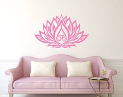 lotus flower wall decal om sign vinyl sticker interior home