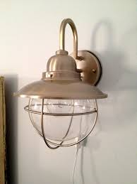 how to make a hard wire wall light into a plug in wall sconce