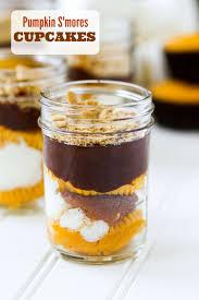 pumpkin s u0027mores cupcakes