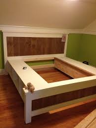King Size Floating Platform Bed Plans by Best 25 Box Bed Frame Ideas On Pinterest Simple Wood Bed Frame