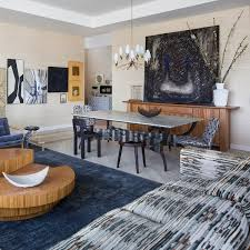 kelly wearstler interiors living room to dining room hollywood